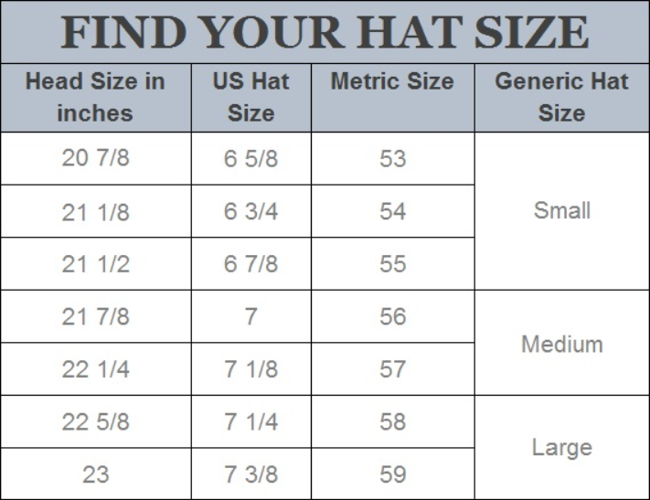 Find your Hat size